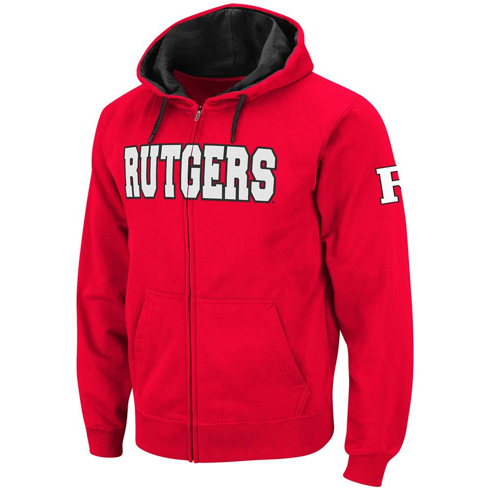 Mens Rutgers Scarlet Knights Full Zip Hoodie S by Colosseum