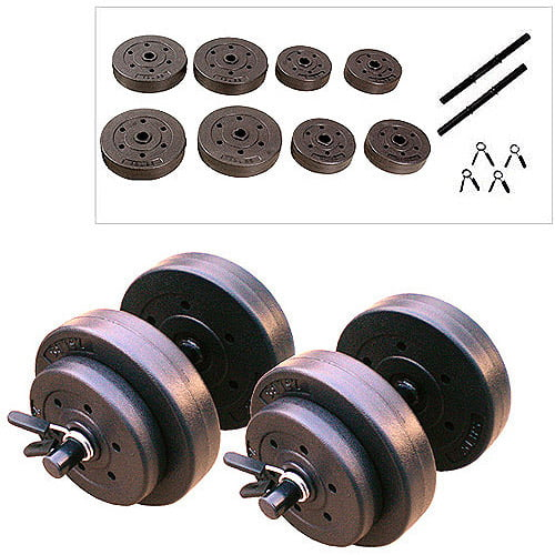 Gold's Gym Vinyl Dumbbell Set, 40 lbs by Cap Barbell