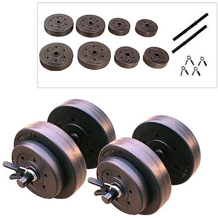 Golds Gym Vinyl Dumbbell Set  40 Lbs