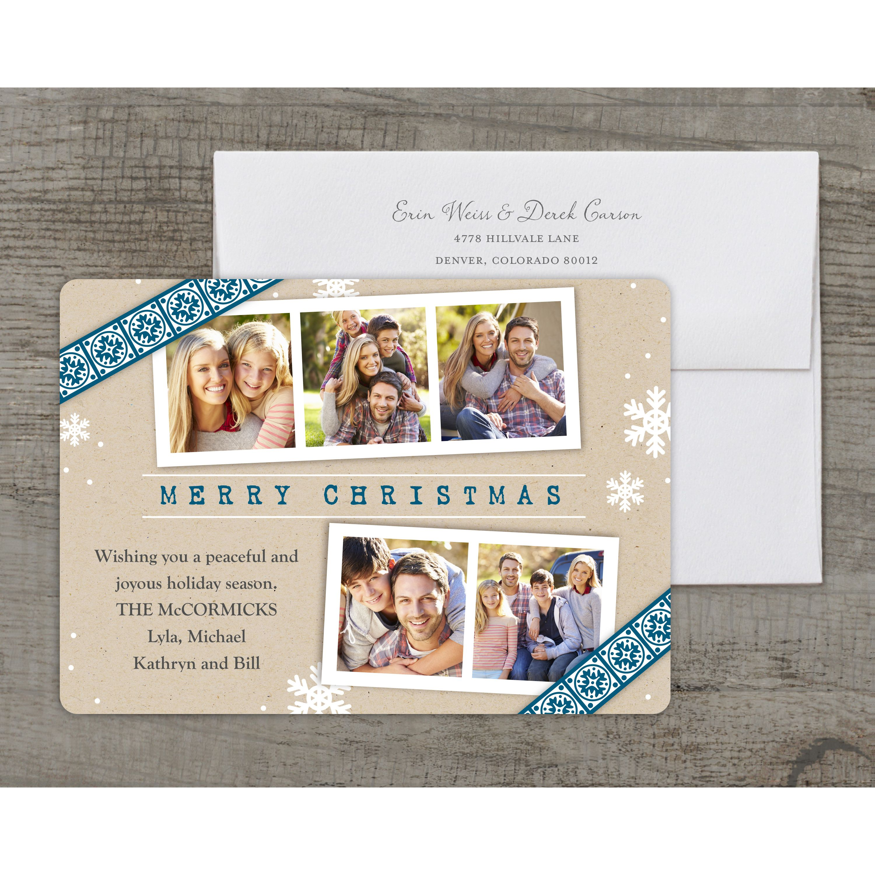 Christmas Gazette - Deluxe 5x7 Personalized Holiday Christmas Card