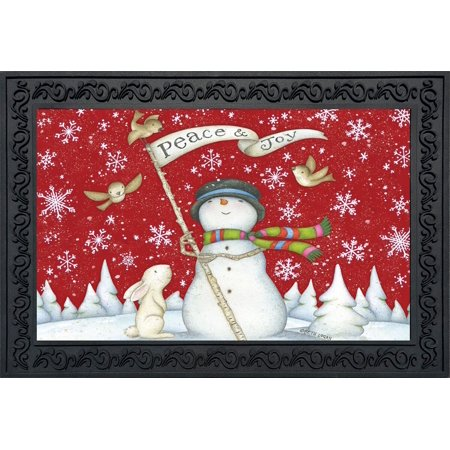 Briarwood Mesh (Peace and Joy Christmas Doormat Indoor Outdoor Briarwood Lane 18