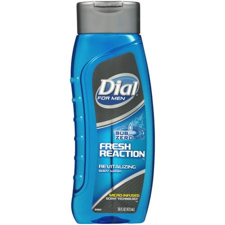 - Dial for Men Body Wash, Fresh Reaction Sub Zero, 16 Ounce