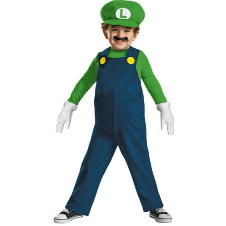 Dress Up Mario And Luigi (Morris costumes DG73684M Luigi Toddler)