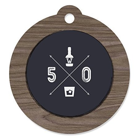 50th Milestone Birthday - Die-Cut Party Favor Tags (Set of 20) (50th Birthday Party Invitations)