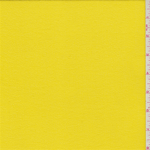 Bright Yellow Crepe, Fabric By the Yard