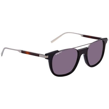 Ruthenium Black Sunglasses (Salvatore Ferragamo Sunglasses SF160S 021 Black-Dark Ruthenium 52x20x145)