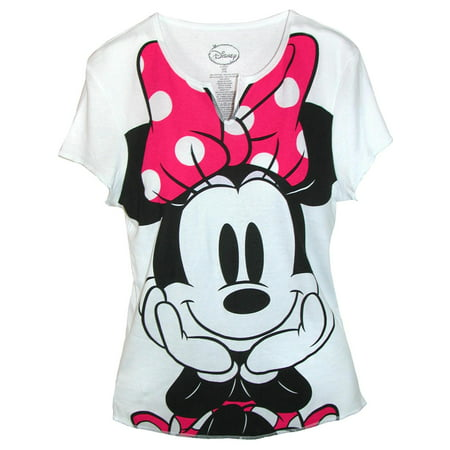 Women's Minnie Mouse Tee Shirt Top,  - Dead Minnie Mouse