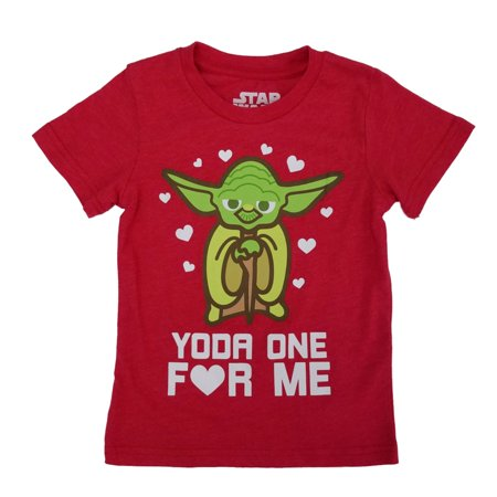 Star Wars Toddler Boys Yoda One For Me Valentine's Day T-Shirt  - Size - 3T