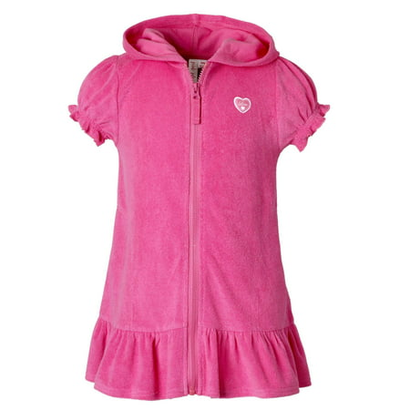 c23ae95d92 Pink Platinum - Baby Toddler Girl Hooded Terrycloth Swim Cover-up ...