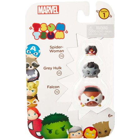 Marvel Tsum Tsum Series 1 Spider-Woman, Grey Hulk & Falcon M