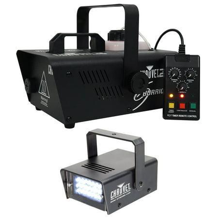 Chauvet DJ H1200 Hurricane 1200 Compact Fog Machine W/Remote Timer+Strobe Light - Halloween Fog Machine 1000w