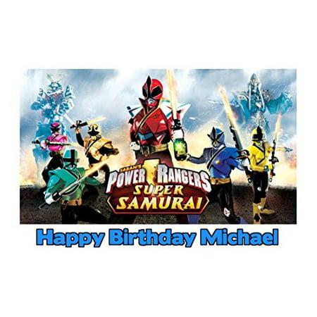 Power Ranger Birthday Cake (1/4 Sheet Power Rangers Super Samurai Edible Frosting Cake Topper-)