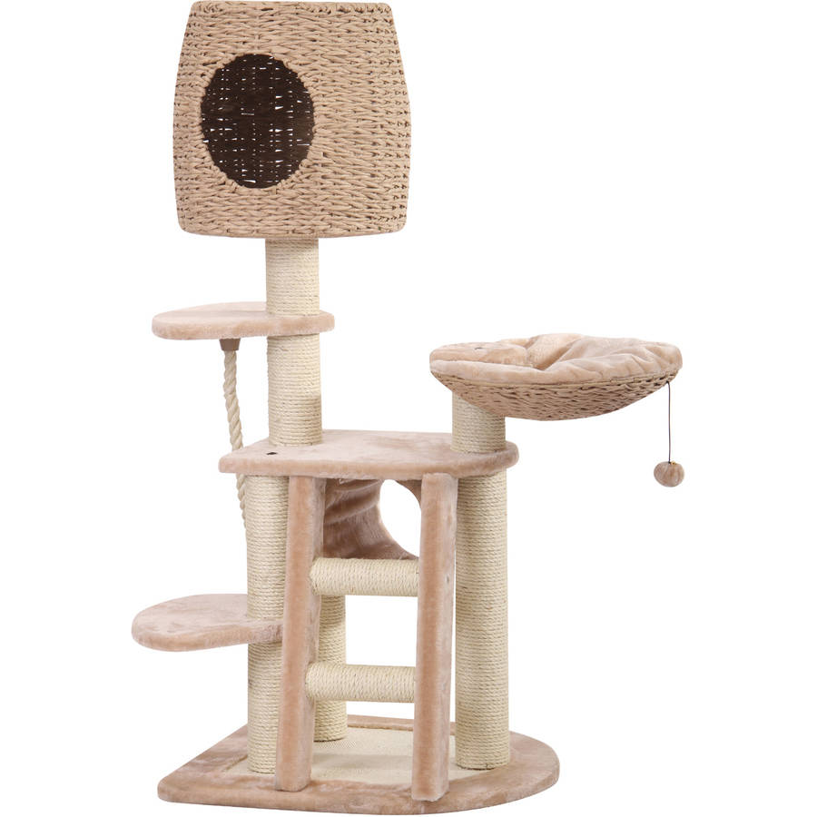 Petpals Group Pethouse Multi-Level Paper Rope and Sisal Playground with Condo Lookout and Lounging Pad
