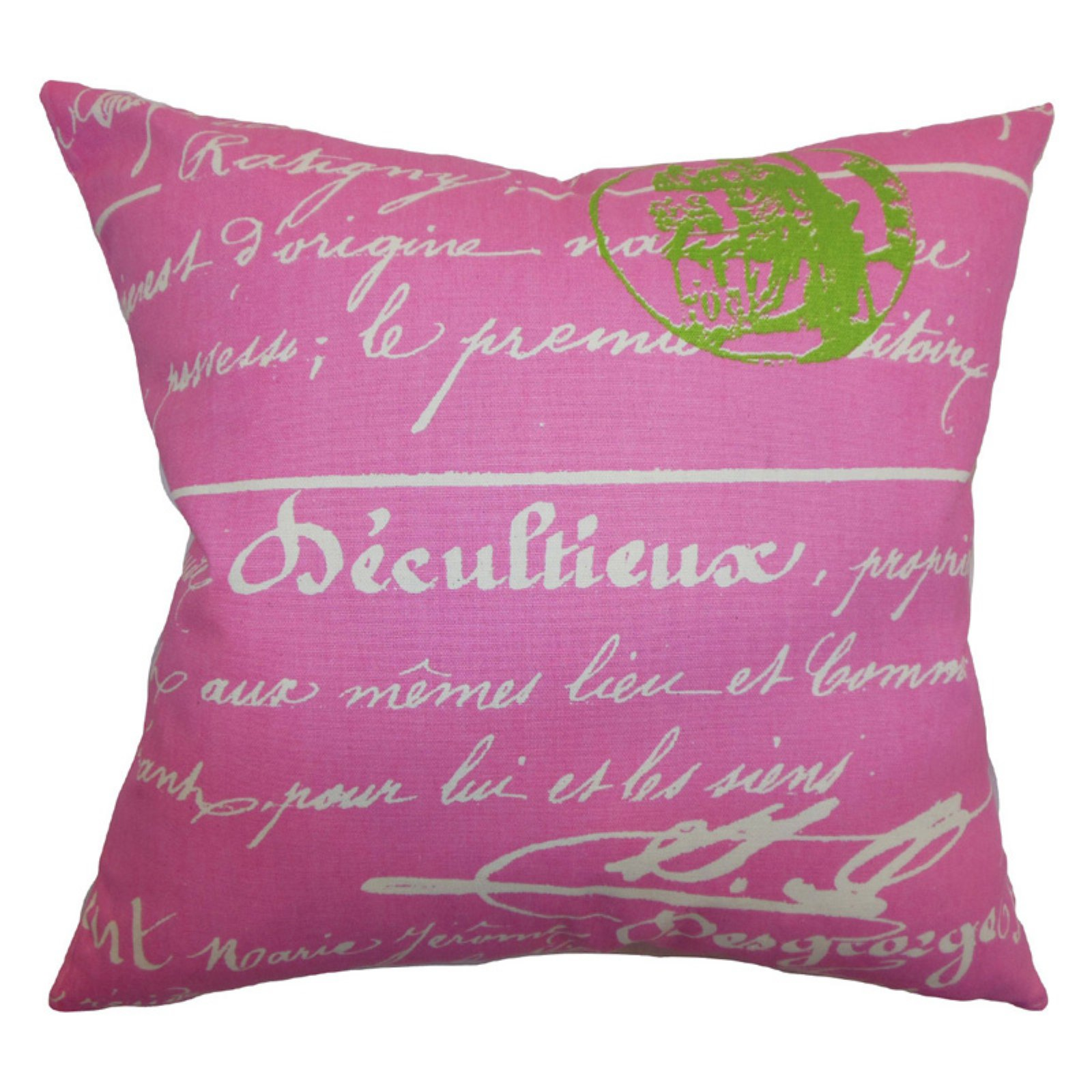 The Pillow Collection Saloua Typography Pillow