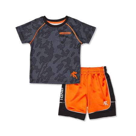 Toddler Boy T-shirt & Jersey Shorts, 2pc Active Outfit - The Undertaker Outfit