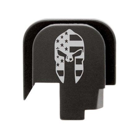 for Smith & Wesson Shield .45 Rear Slide Plate NDZ Black Spartan Helmet US