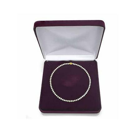 14k White Gold Filigree Cross (ADDURN Ultra-Luster 11-12mm White Genuine Cultured Freshwater Pearl 18