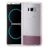 EagleCell Quicksand Hard Plastic/Soft TPU Rubber Glitter Case Cover For Samsung Galaxy S8 - Hot Pink