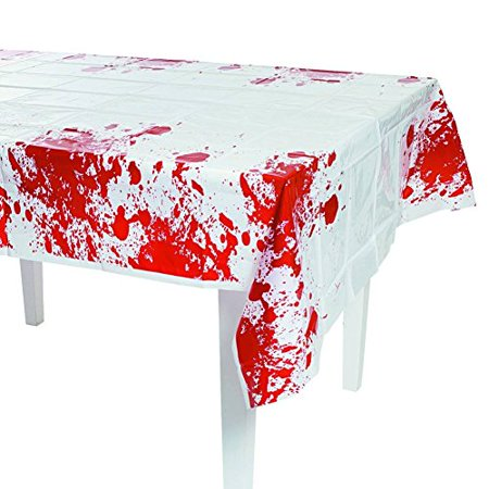 Halloween Party Zombie Blood Tablecover - 54in x 108in