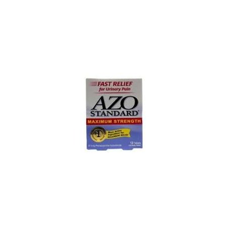 - Azo Standard Maximum Strength Tablets For Urinary Pain 12 Tablets Each