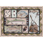 Custom Printed Rugs Fishing Doormat