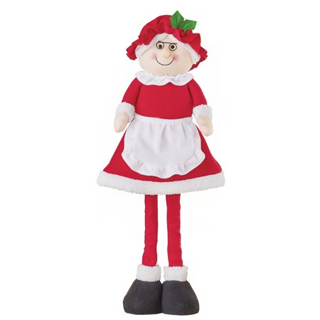 Expandable Santa and Mrs. Claus Tabletop Christmas Decoration - Adjustable Sizing](Mrs Christmas)