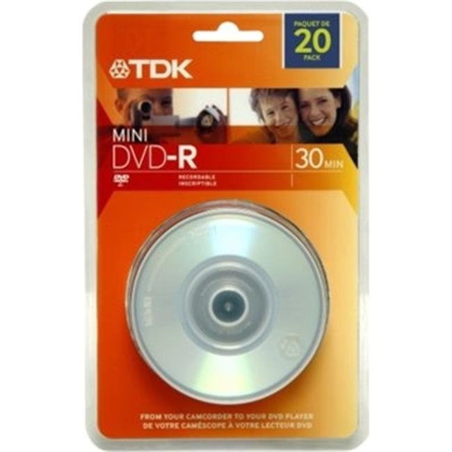 TDK 48776 1.4GB MINI DVD-R 4X 20PK SPN