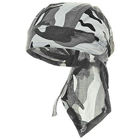 Camouflage Doo Rag Skull Cap Camo Bandana Hunting Hunters Head Wrap (Gray Urban (Doo Rag Skull Cap)