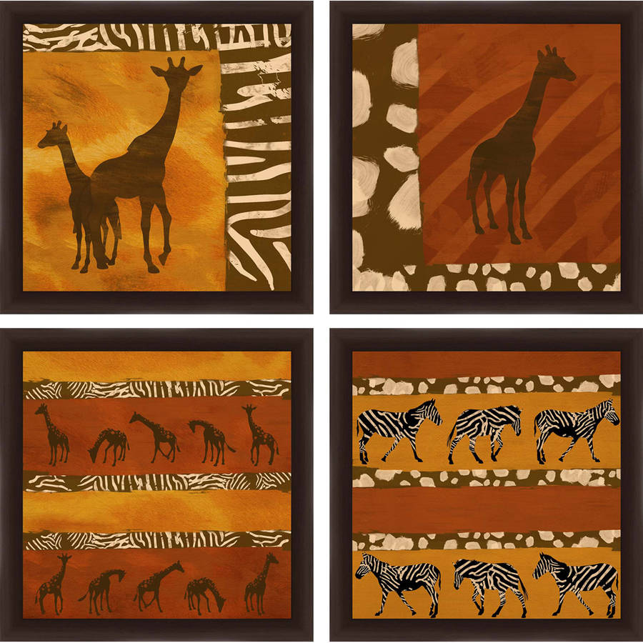 "Safari Wall Art safari patterns 14"" x 14"" wall art - walmart"