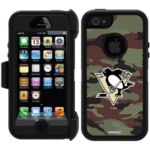 Pittsburgh Penguins Traditional Camo Design on OtterBox Defender Series Case for Apple iPhone 5/5s