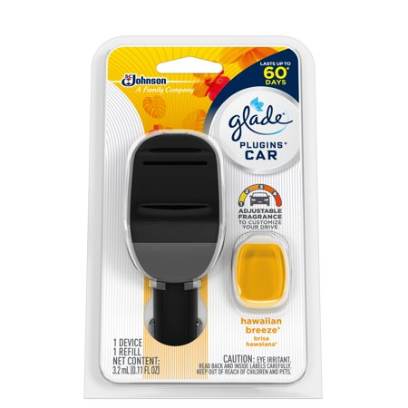 Small Group Starter Kit - Glade Car Air Freshener Starter Kit 1 CT, Hawaiian Breeze, 0.11 FL. OZ. Total