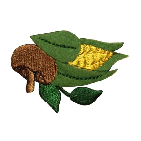 Harvest Applique (ID 1247 Ear of Corn Patch Fall Harvest Cob Food Embroidered Iron On Applique)