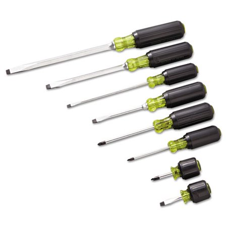 8 piece 100 plus screwdriver set cabinet phillips slotted. Black Bedroom Furniture Sets. Home Design Ideas