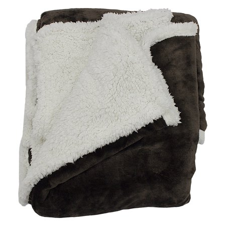 Andover 50 in. W x 60 in. L Sherpa Throw in (Chocolate Sherpa)