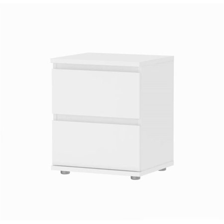 Atlin Designs 2 Drawer Nightstand in White - image 1 of 1