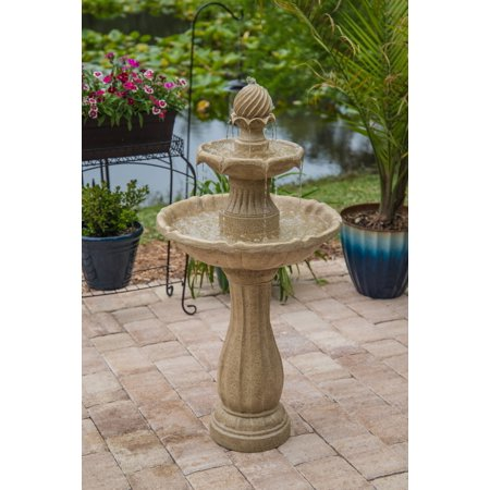 Kenroy Home Frost Outdoor Solar Floor Fountain - Sandstone
