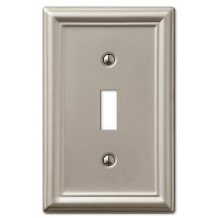 Single Toggle 1-Gang Decora Wall Switch Plate, Brushed (1 Toggle Decora Wall Plate)