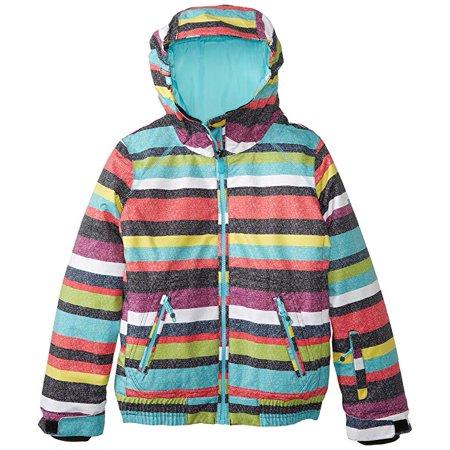 Roxy Big Girls' Valley Hoodie Girl Snow Jacket Size Small 10 (Roxy Hooded Jacket)