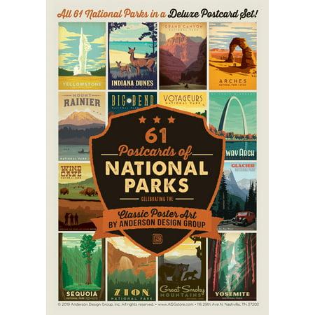 Cute Halloween Postcards (National Parks 61 Postcard Set)