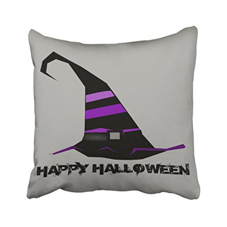 WinHome Decorative Pillowcases Vintage Gothic Halloween Witch Hat Throw Pillow Covers Cases Cushion Cover Case Sofa 18x18 Inches Two Side](Gothic Halloween Cover Photos)