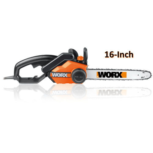 "Worx 16"" Bar Powerful 14.5 Amp Lightweight Corded Electric Chainsaw 