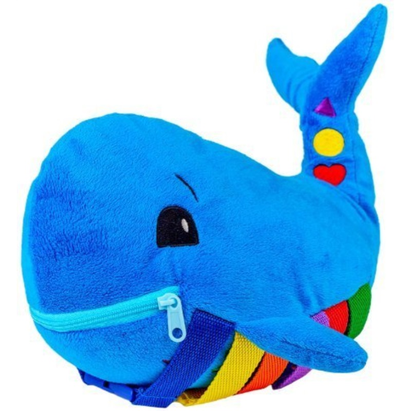 """BUCKLE TOY """"Blu"""" Whale Toddler Early Learning Basic Life Skills Children�s Plush Travel Activity by"""