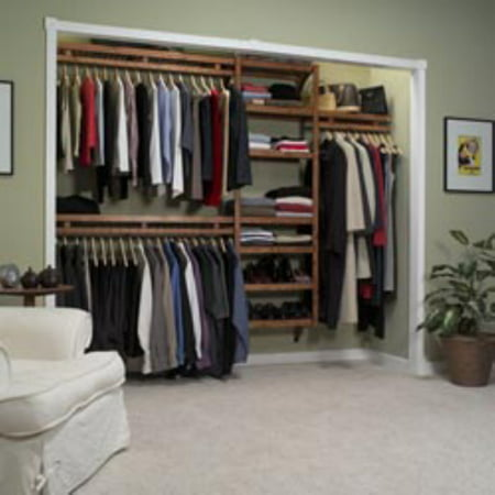 John Louis Home Standard Closet System in Maple or Mahogany