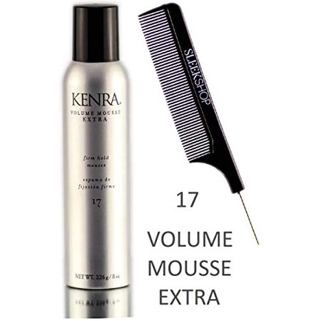 Kenra VOLUME MOUSSE EXTRA 17, Firm Hold Mousse (STYLIST KIT) Foam (8 oz / 226 g)