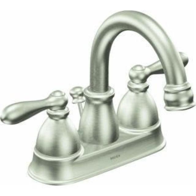 Moen Ca84667srn Double Handle Centerset Bathroom Faucet From The Caldwell Collection Spot Resist Brushed Nickel Walmart Com
