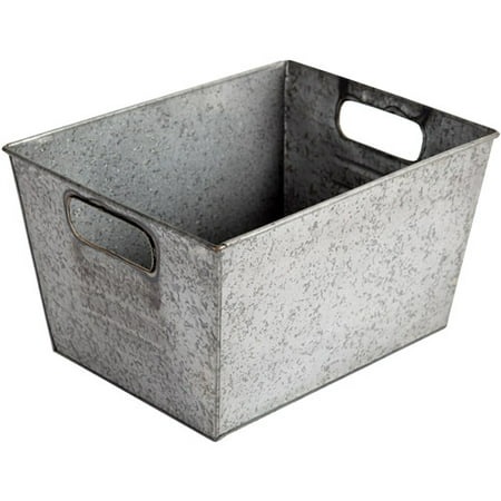 Better Homes and Gardens Small Galvanized Bin,