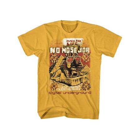 Digital Underground Music No Nose Job Adult Short Sleeve T Shirt (Underground Chicago Halloween)