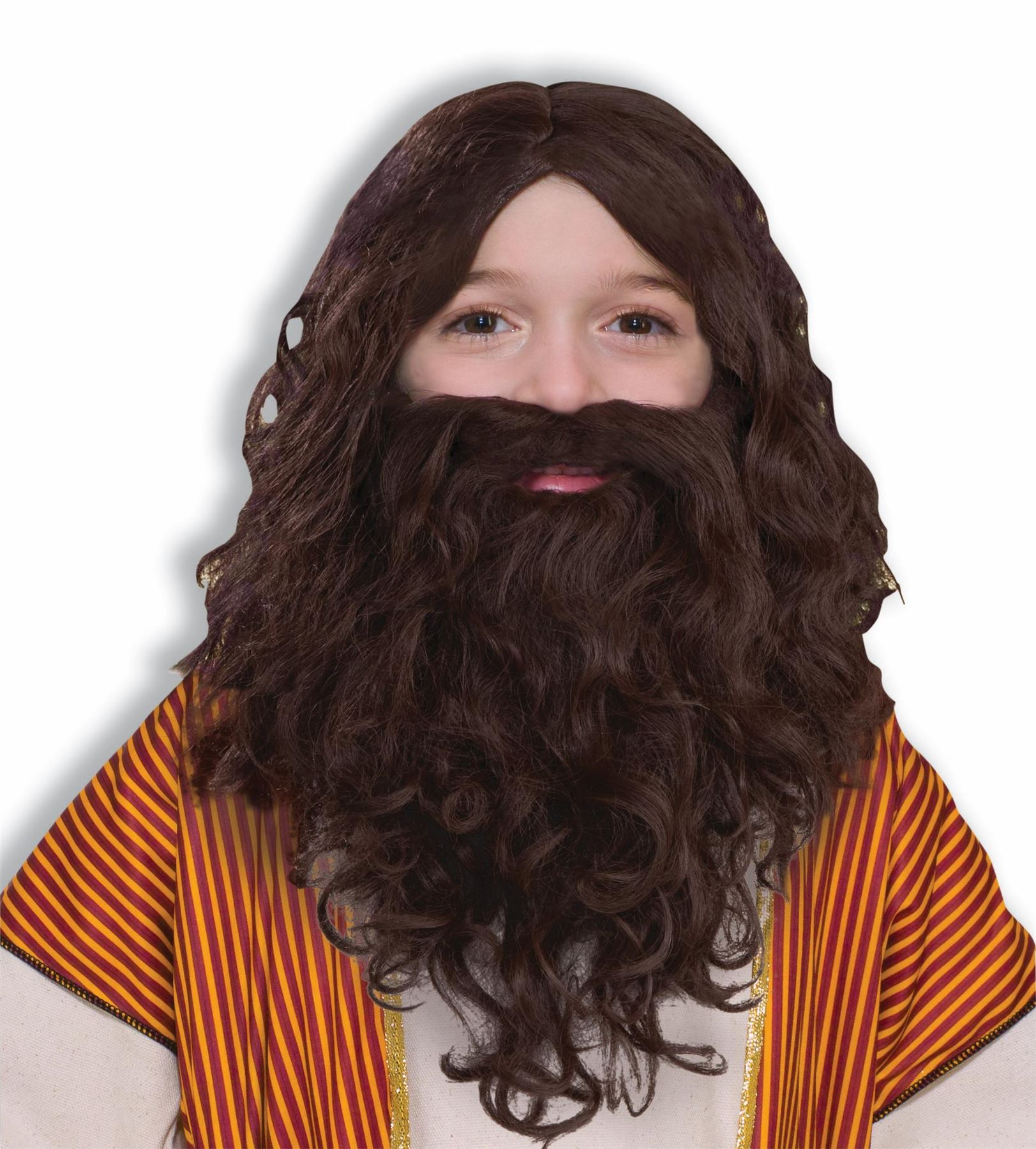 JESUS WIG beard boys child biblical pageant christmas nativity costume accessory