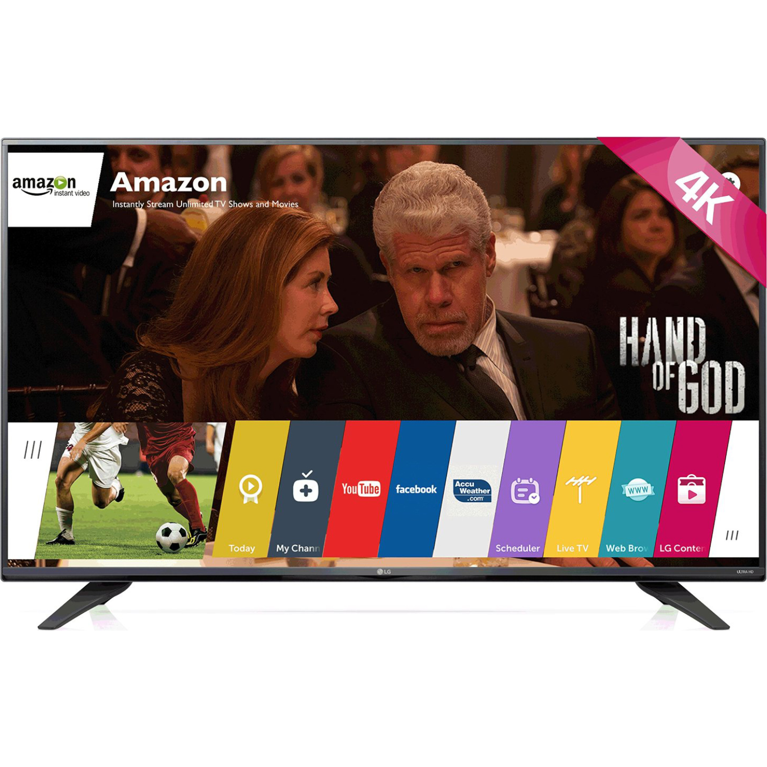 "LG 55UF7600 55"" 4K Ultra HD 2160p 120Hz LED HDTV (4K x 2K..."