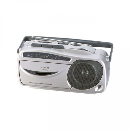 Craig Portable AM/FM Radio Cassette Recorder and